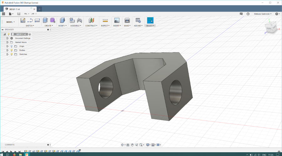 Autodesk Fusion 360 window